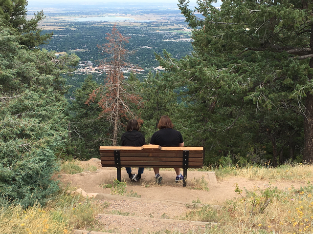 My favorite picture of 2017: My family overlooking Boulder, the city where I went to college and became me.