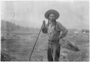 Louie Pierre, fullblood Indian farmer.