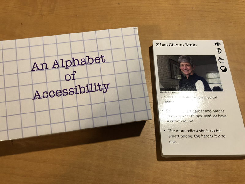 A box for the accessibility deck, with the deck, with letter z on top